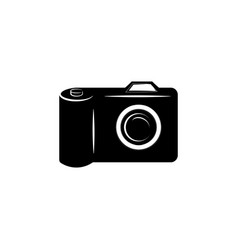 camera icon black on white background vector image