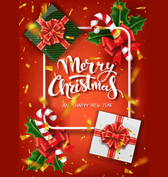 christmas design template calligraphic vector image
