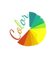 Color wheel circular color palette with vibrant vector