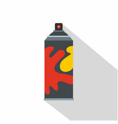 colored spray icon flat style vector image