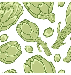 Colorful artichokes seamless pattern vector image