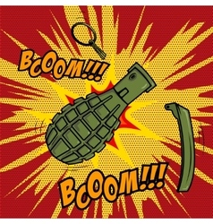 Comic style Grenade explosion Design element for vector image