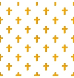 Cross pattern cartoon style vector image