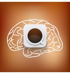 cup of coffee and heart background vector image