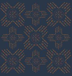 dark runic boho color seamless pattern vector image