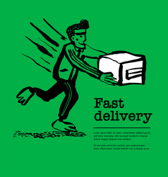 Delivery service concept web banner with delivery vector