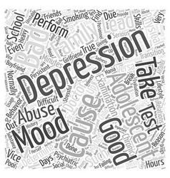 Depression in Adolescents Word Cloud Concept vector