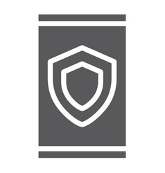 device security glyph icon data and protection vector image