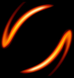 Fire shape on a black background vector