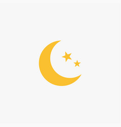 flat moon icon vector image