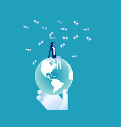 global business market strategy sitting and vector image