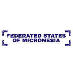 Grunge textured federated states micronesia vector