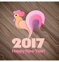 Happy New Year 2017 on the wooden background vector image