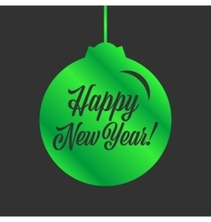 Happy new year sign vector