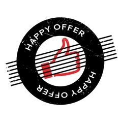 Happy Offer rubber stamp vector