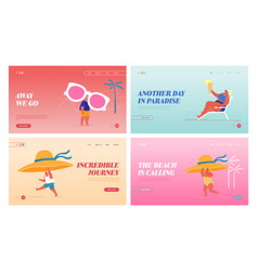happy people relax on exotic seaside resort vector image