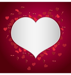 heart valentine background vector image
