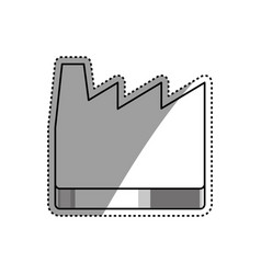 Industrial factory building vector