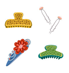 Isolated object barrette and hair icon vector