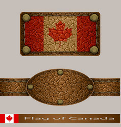 label of a flag of canada vector image