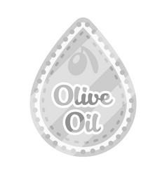 Label of olive oilolives single icon in vector