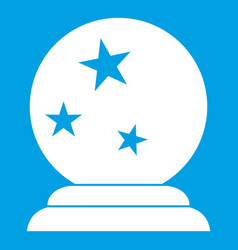 magic ball icon white vector image