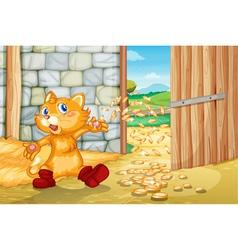 Magical Coins Kitty vector