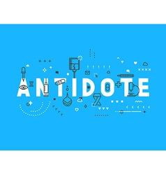 Medicine concept antidote vector
