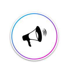 megaphone icon isolated on white background vector image