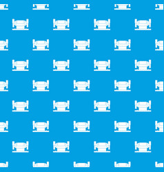 Metalworking machine pattern seamless blue vector