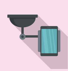 Mobile phone holder icon flat style vector