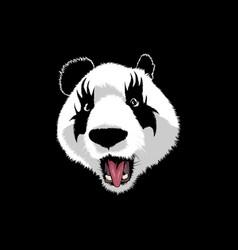 panda kiss vector image