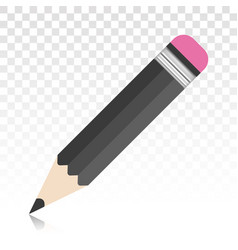 Pencil flat colour icon for apps or websites vector