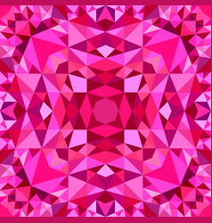 Pink seamless abstract triangle mosaic vector