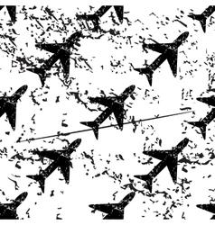 Plane pattern grunge monochrome vector