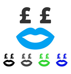 Pound prostitution smiley flat icon vector