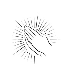 prayer hands vector image