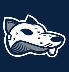 Rat head mask e-sport logo mascot vector