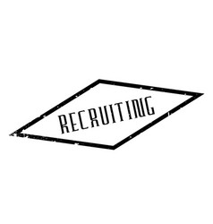 Recruiting rubber stamp vector