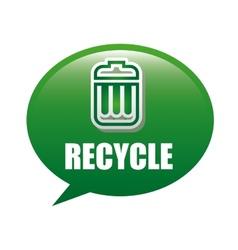 recycle trash vector image