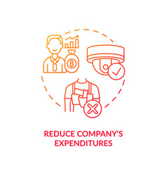 reduce business expenditures red concept icon vector image