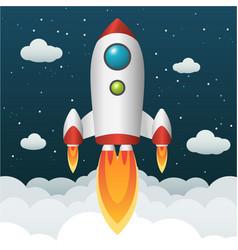 Rocket start-up infographic format vector