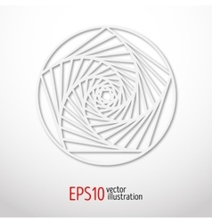 Sacral symbol made paper 3d spiritual design vector