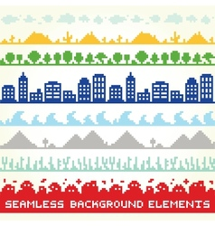 Seamless background location elements vector image