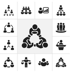 Set 12 editable business icons includes vector