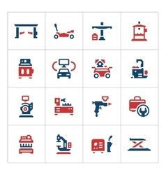 Set color icons of car service equipment vector image