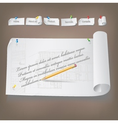 Set of Architectural Web Elements vector image