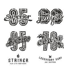 Set of sport design elements for emblems vector