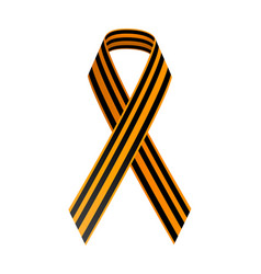 st george black and gold ribbon may 9 happy vector image