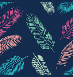 summer tropical palm seamless pattern vector image